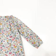 Raglan Sleeve Dress in #betsy  #cocoandwolf #libertyprintdress #babygirls #girlsdress