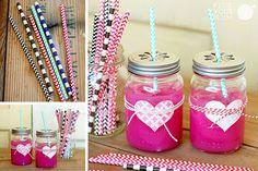 Set of 50 Valentine Straws 70% Off! #deal #straws #sale