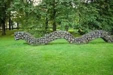 Gabion sculptured snake
