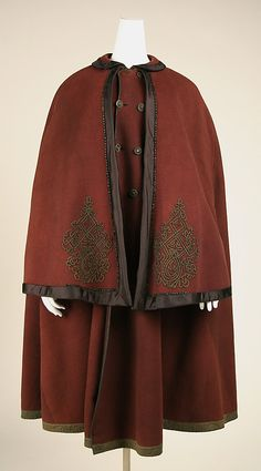 Cloak, 1850s, American or European, jet decoration, gift of Lee Simonson, 1938, accession no. C.I.38.23.92