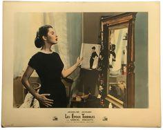 LES EPOUX TERRIBLES (Nata di marzo) Jacqueline Sassard dans le film de Antonio Pietrangeli, 1957  Tirage argentique colorisé, indications du film sur le carton d'exploitation 39 x 49 cm  Collection de Madame X