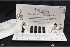 Faire part de mariage piano et musique