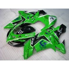 Kawasaki NINJA ZX10R 2006-2007 Injection ABS Fairing - Others - Green/Black | $639.00