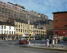 """Metamorphosis: Meatpacking District 1985 + 2013."" Back in the '80s, the Meatpacking District still reflected its name and Rose wandered the streets almost daily—armed with his 4x5 view camera."