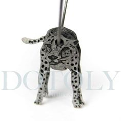 one of my favorite fun earrings, pinning in case i need to replace them....A pair of 3D dangle earrings of a jaguar leopard cat! Super cute and super light!  ---  Sizing:   - All ring sizes refer to US Women sizes. (See our FAQ page for a ring size chart)  Handling time: - Please allow two to three business days for us to process your order - We will email you...