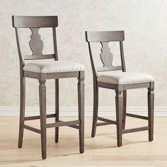 Bradding Shadow Gray Upholstered Counter & Bar Stools