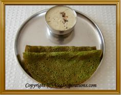 spinach oat dosa no fermentation and soaking 3 hrs