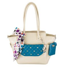 Sadie in Stone with Faith clutch in Ocean, add a clip on ring and card case plus a purse for a beautiful finish look. This is a Grace Adele Look. www.eyecandy.graceadele.us