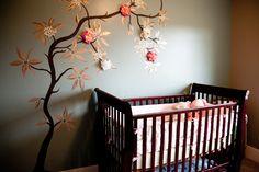 BABY GIRL NURSERY - TREE FLOWERS by Dahlup nursery tree flowers, girl nurseries, kid rooms, girl nursery tree