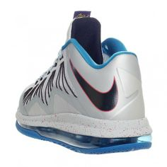 free shipping deded f7f32 The latest LeBron X Low set to release features a metallic platinum upper  with tropical teal and chilling red accents. The Nike Air Max LeBron X Low