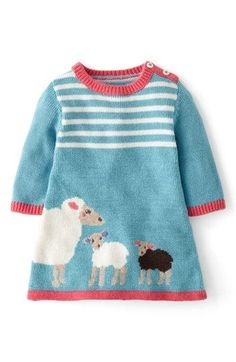 Deals Mini Boden My Baby Knit Dress Baby Girls Promotion by soweam Knitting For Kids, Baby Knitting Patterns, Baby Patterns, Dress Patterns, Knit Baby Dress, Knitted Baby Clothes, Smock Dress, Diy Tricot Crochet, Crochet Baby