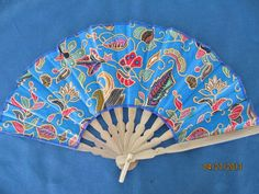 Vintage Flowered Print Fabric Hand Fan by BitofHope on Etsy, $23.00