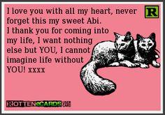 To my sweet Abigail <3 xxxxx!