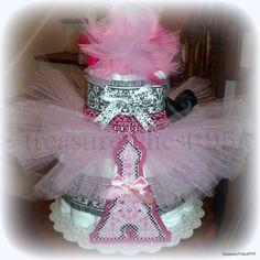 Baby Tutu Diaper Cake.  What a great gift idea!