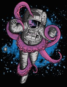 stoner astronauts | trippy space psychedelic astronauts animated GIF