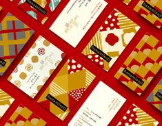 Branding on Behance Desing Inspiration, Red Packet, Shape Posters, Name Card Design, Bussiness Card, Creative Box, New Years Poster, Red Envelope, New Year Card