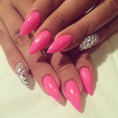 Hmmm stiletto nails have grown on me but mine shall be a tad shorter