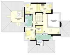 Dom z widokiem 4 Floor Plans, Behance, Design, Houses, Home Plans, Homes, Design Comics, Home, Floor Plan Drawing