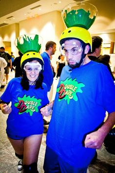 Halloween Costumes 2011: Old 90's Nickelodeon-Inspired Costume Ideas - so great!!!!  Hubby and I should do this!  We were both huge fans of double dare!
