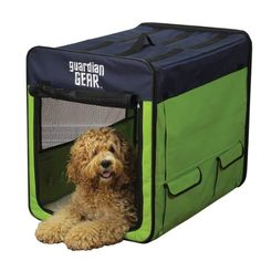 Guardian Gear Collapsible Dog Crate, Medium, Lime Green/Blue - http://www.thepuppy.org/guardian-gear-collapsible-dog-crate-medium-lime-greenblue/