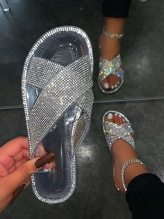 Pretty Sandals, Pretty Shoes, Cute Slides, Bling Sandals, Pink Snake, Shoes Too Big, Clear Heels, Jelly Sandals, Dream Shoes