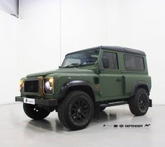 Land Rover Defender by A. Kahn Design Ltd. came to us to be wrapped in 3M Matte Military Green with a 3M Matte Black Roof & 35% Window Tints. What a great looking machine, we think this colour suits this car down to the ground. 