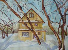 Saskatchewan Winter - By Watercolour Artist Sherren MacLeod