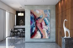 Items similar to Large Modern Wall Art Painting,Large Abstract Painting,acrylics paintings,bedroom wall art,large horizontal art on Etsy Oversized Wall Decor, Oversized Canvas Art, Modern Wall Art, Large Wall Art, Large Art, Abstract Wall Art, Abstract Paintings, Large Painting, Bedroom Wall