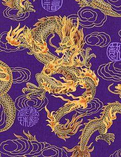 Elemental Dragon - Purple/Gold