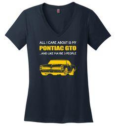 Mens Pontiac 68 GTO Charcoal T-Shirt