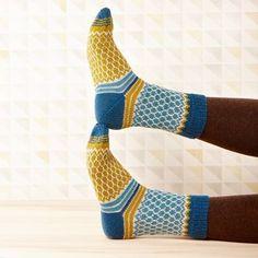 Soxx No. 11 pattern by Kerstin Balke Soxx No. 11 stranded colorwork knit socks pattern by Kerstin Balke Crochet Socks, Knitting Socks, Hand Knitting, Knit Crochet, Knit Socks, Knitting Patterns Free, Knit Patterns, Lang Yarns, Patterned Socks