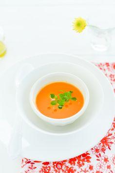 #kids food ideas #homemade tomato soup with fresh baby basil via: Elizabeth Gaubeka Photography | Au Petit Goût