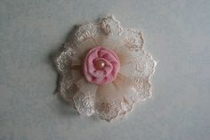 fabric and lace flower