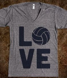 Love Volleyball (Athletic V-Neck)