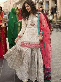 Maria B Embroidered Collection - Mariya B Casual Lawn Dresses Ethenic Wear, Lehenga Saree, Printed Trousers, Half Saree, Indian Designer Wear, Summer Collection, Blouse Designs, Lace Skirt, How To Wear