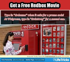 Entertainment - Get a Free Redbox Movie
