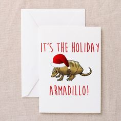 Greeting Cards on CafePress.com the Holiday Armadillo