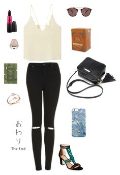 """Untitled #280"" by shope-xo on Polyvore featuring Oliver Peoples, Tamara Mellon, La Preciosa, Topshop, MANGO, MAC Cosmetics, Aveda and Bloomingdale's"