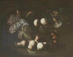 CICALESE FRANCESCO ANTONIO (1642 - 1685) - FRANCESCO ANTONIO CICALESE (ATTIVO A NAPOLI INTORNO ALLA META' DEL XVII SECOLO) - Natura morta di frutta e funghi