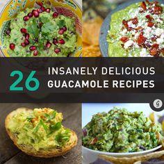 26 Creative Ways to Make Guacamole Even More Delicious #guacamole #recipe #snack