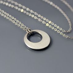 Small Sterling Silver Loop Necklace by Lisa Hopkins Design
