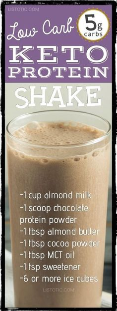 Low Carb Keto Protein Shake Recipe For Weight loss -- great meal replacement!   10 easy keto smoothie and drink recipes that will change the way you look at eating low carb. For breakfast, dessert and more! Listotic.com