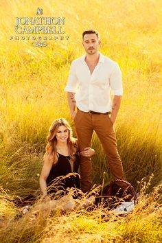 Franklin Tennessee Engagement Standing in the grass