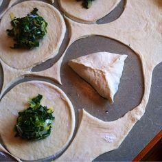 Spinach fatayir are a family favorite. My husband& grandmother made legendary fatayir, and while her recipe may be lost forever, m. Lebanese Recipes, Greek Recipes, Raw Food Recipes, Cooking Recipes, Spinach Fatayer Recipe, Spinach Pie, Comida Kosher, Savory Pastry, Middle Eastern Recipes