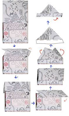 Gravity Falls Journal 3 Replica - Folding Hat Map by leoflynn.deviantart.com on @DeviantArt