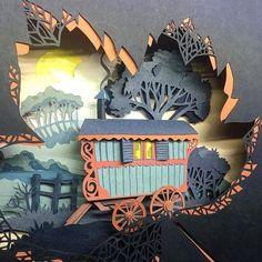 Source by elzatrevo 3d Paper Art, Origami Paper Art, Paper Artwork, Paper Crafts, Kirigami, Cut Out Art, Laser Paper, Papier Diy, Paper Cutting