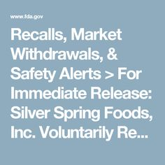 Recalls, Market Withdrawals, & Safety Alerts > For Immediate Release: Silver Spring Foods, Inc. Voluntarily Recalling Waterfront Bistro Tartar Sauce Due To Possible Mislabeling and Undeclared Allergen