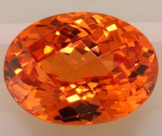 Spessertite Garnet - incredible orange color.