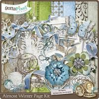 Almost Winter Digital Scrapbook Page Kit. $5.49 at Gotta Pixel.