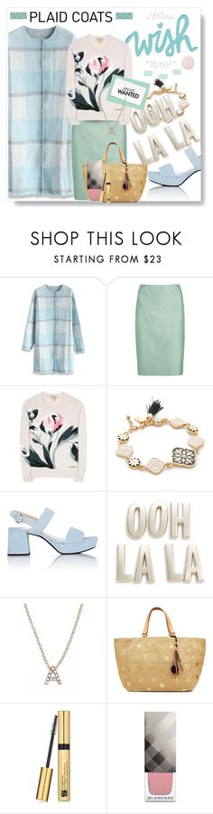"""""""Pattern Mix: Plaid Coats"""" by mponte ❤ liked on Polyvore featuring Chicwish, Armani Collezioni, Burberry, Kate Spade, Prada, Bony Levy, Star Mela and Estée Lauder"""